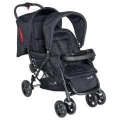 Safety First Duodeal Tandem - Kinderwagen | Full Black